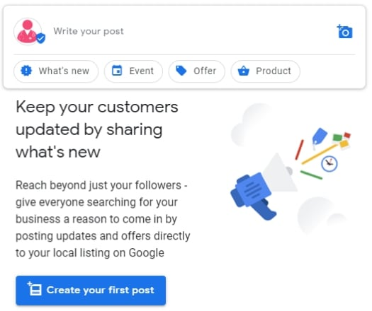Create Your First Google Post Message