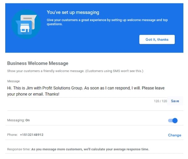 Google My Business Messaging Setup With GMB Doc Optimization