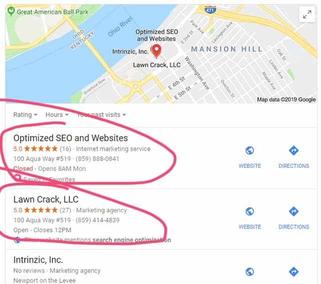 Google My Business Optimization Working
